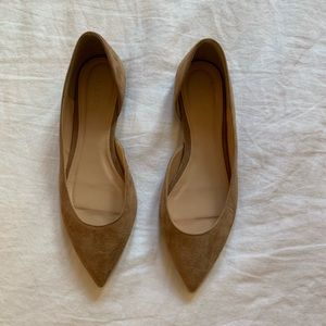 New JCrew tan suede flats size 8